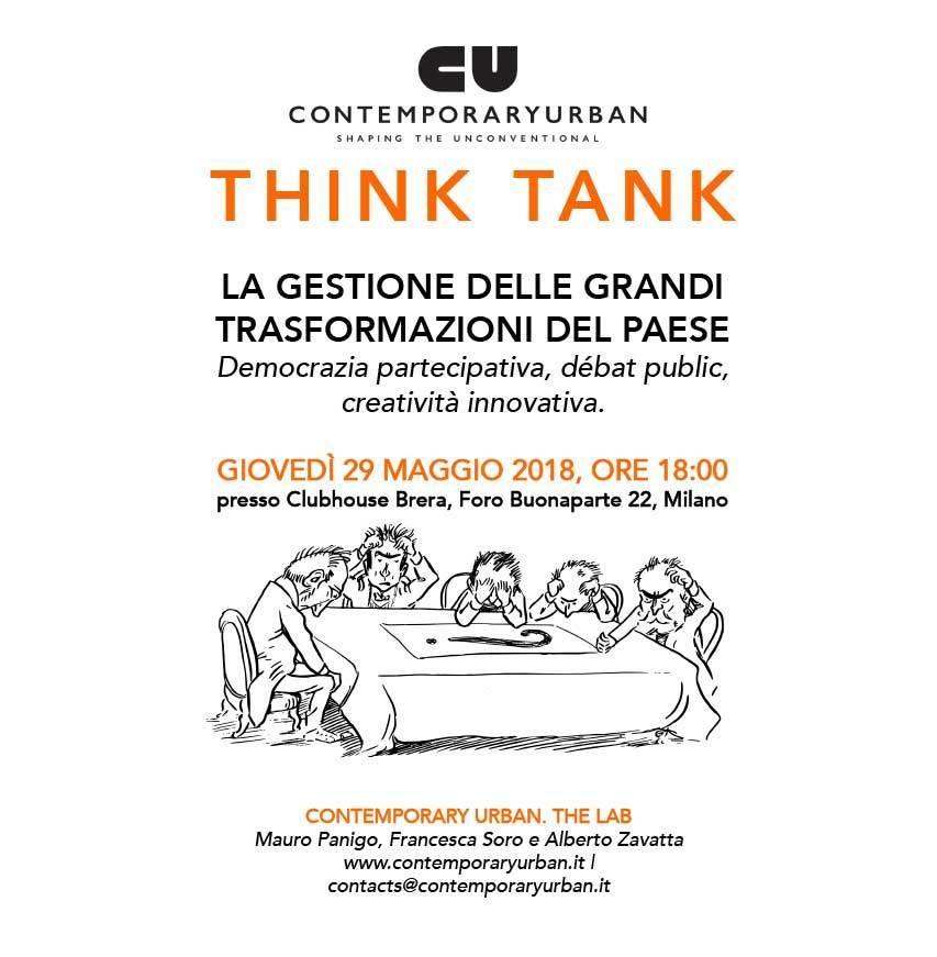 CONTEMPORARY URBAN – THINK TANK SUL DIBATTITO PUBBLICO E LA DEMOCRAZIA PARTECIPATIVA