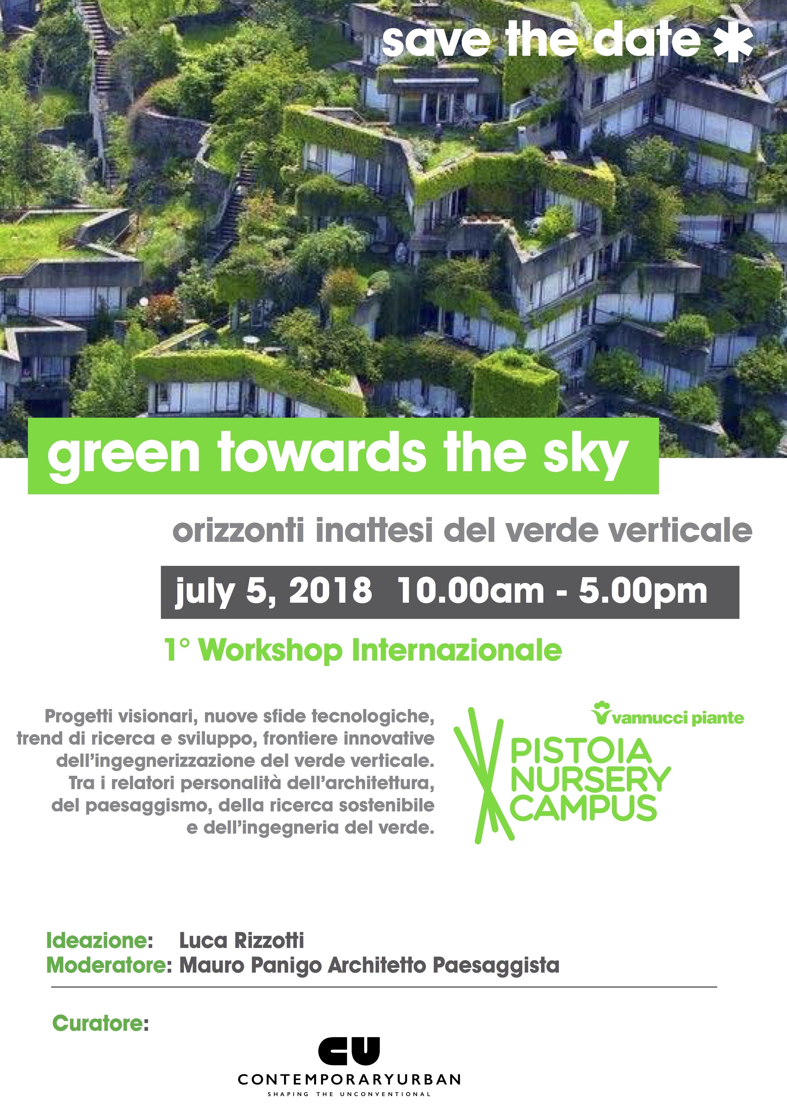 GREEN TOWARDS THE SKY > 1st INTERNATIONAL WORKSHOP ON THE VERTICAL & ROOF GREEN