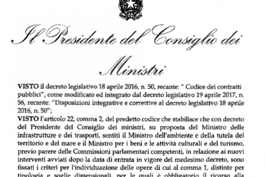 LIBRARY – IL DECRETO SUL DIBATTITO PUBBLICO IN ITALIA
