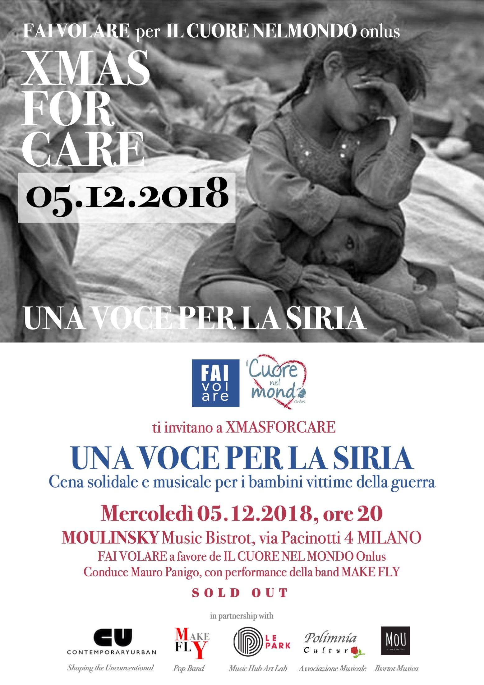 XMASFORCARE. UNA VOCE PER LA SIRIA, 05.12.2018