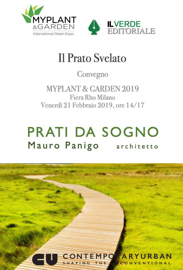 MAURO PANIGO RELATORE AL CONVEGNO 'IL PRATO SVELATO', MYPLANT & GARDEN, 22 febbraio 2019